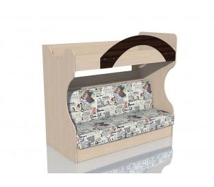 «Рико дуб Тортона» НМ-037.43 Кровать 2-х ярусная с диваном в ткани Рим