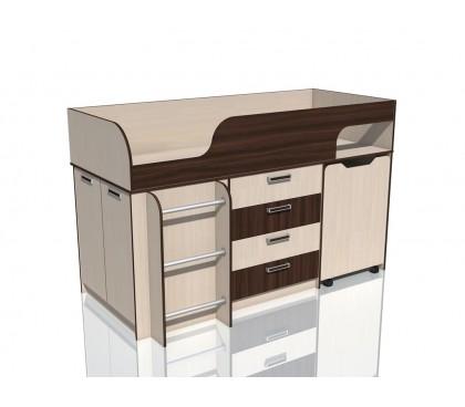 «Рико дуб Тортона» НМ-011.56М Кровать с выкатным столом