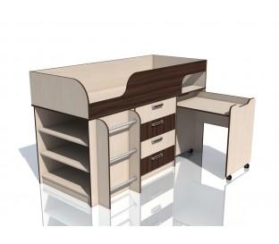 наполнение «Рико дуб Тортона» НМ-011.56М Кровать с выкатным столом
