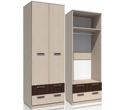 «Рико дуб Тортона» НМ-013.02-03М Шкаф 2-дверный с ящиками (гл. 574)