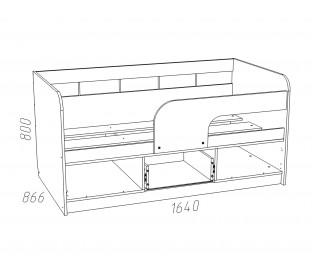 «Рико дуб Тортона» НМ-039-03 Кровать 160 схема