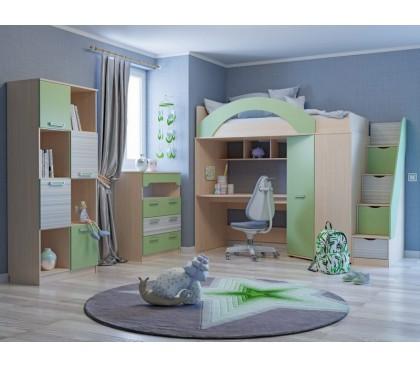 детская комната Рико Модерн фасад Зелёный