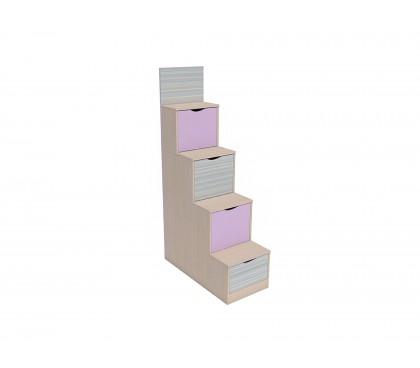 «Рико Модерн» НМ-011.64 Лестница с ящиками фасад Ирис