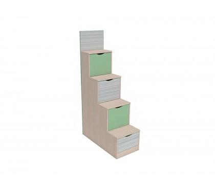 «Рико Модерн» НМ-011.64 Лестница с ящиками фасад Зелёный