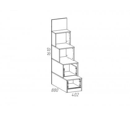 «Рико Модерн» НМ-011.64 Лестница с ящиками схема