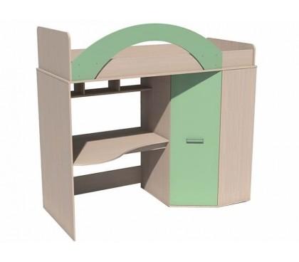 «Рико Модерн» ИЧП-15-01-М1 Кровать-чердак фасад зелёный