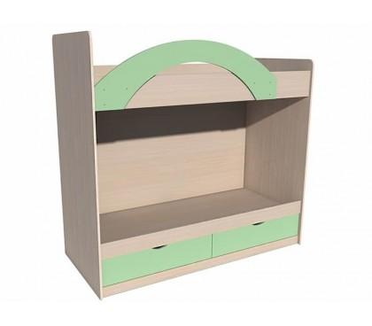 «Рико Модерн» ИЧП-15-02-М3 Кровать двухъярусная фасад зелёный