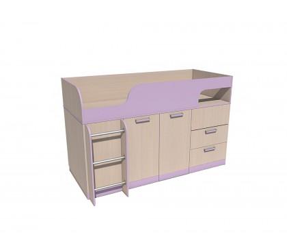 «Рико дуб Модерн» НМ-011.55М Кровать с поворотным столом фасад ирис