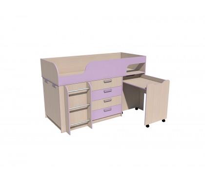 «Рико Модерн» НМ-011.56М Кровать с выкатным столом фасад ирис