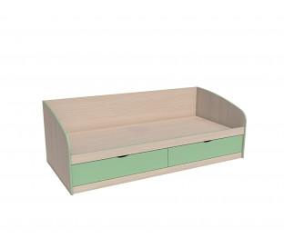 «Рико Модерн» НМ-008.63 Кровать фасад зелёный