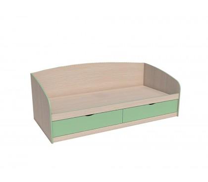 «Рико Модерн» НМ-008.63-01 Кровать фасад зелёный