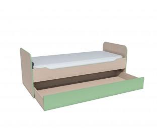 «Рико Модерн» НМ-014.43.00 Кровать выкатная фасад зелёный