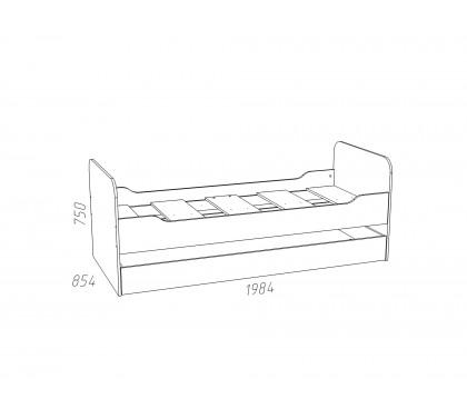 «Рико Модерн» НМ-014.43.00 Кровать выкатная схема