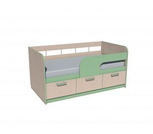 «Рико Модерн» НМ-039-03 Кровать 160 фасад зелёный