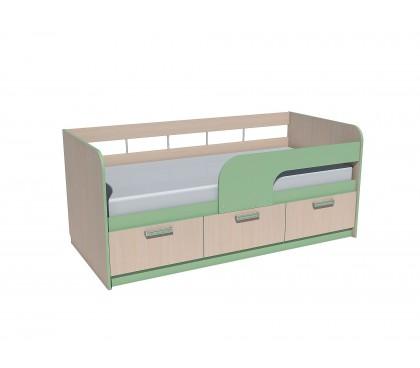 «Рико Модерн» НМ-039-04 Кровать 180 фасад зелёный
