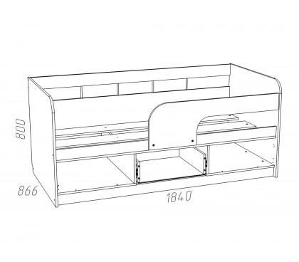 «Рико Модерн» НМ-039-04 Кровать 180 схема