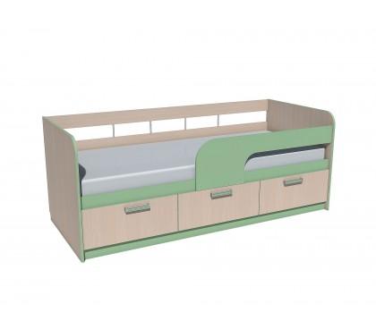 «Рико Модерн» НМ-039-05 Кровать 200 фасад зелёный