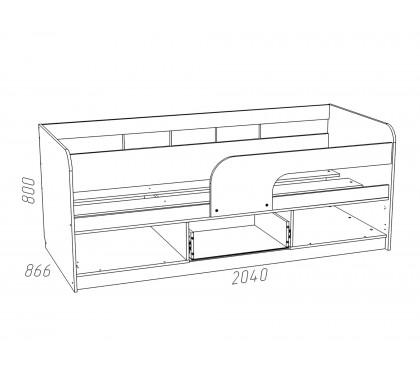 «Рико Модерн» НМ-039-05 Кровать 200 схема