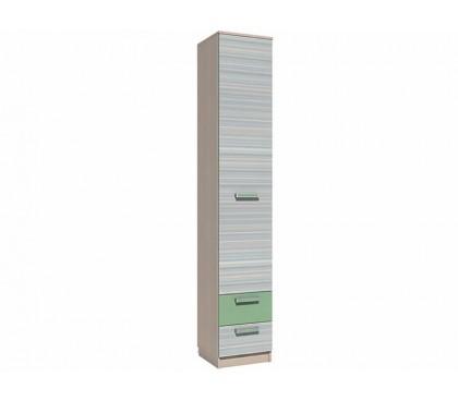 «Рико Модерн» НМ-013.01-02М Пенал с ящиками (гл. 414) фасад зелёный