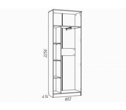 «Рико Модерн» НМ-013.02-02 Шкаф 2-дверный (гл. 414) наполнение