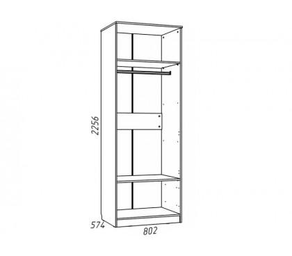 «Рико Модерн» НМ-013.02-03 Шкаф 2-дверный (гл. 574) наполнение