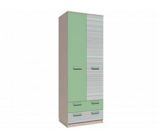 «Рико Модерн» НМ-013.02-03М Шкаф 2-дверный с ящиками (гл. 574) фасад зелёный