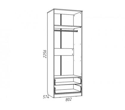 «Рико Модерн» НМ-013.02-03М Шкаф 2-дверный с ящиками (гл. 574) наполнение