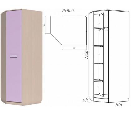 «Рико Модерн» НМ-013.04-02 Шкаф угловой 1-дверный фасад ирис левый