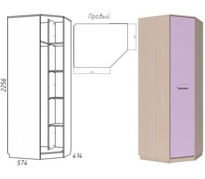 «Рико Модерн» НМ-013.04-02 Шкаф угловой 1-дверный фасад ирис правый