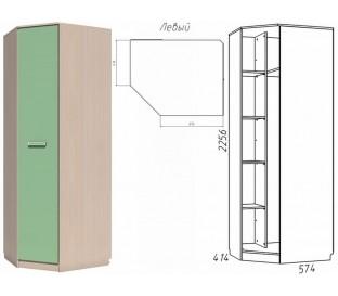«Рико Модерн» НМ-013.04-02 Шкаф угловой 1-дверный фасад зелёный левый