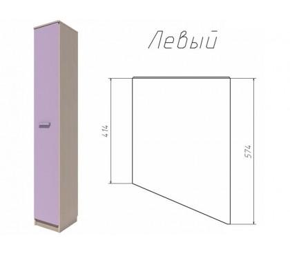 «Рико Модерн» НМ-013.05-01 Шкаф скошенный фасад ирис левый