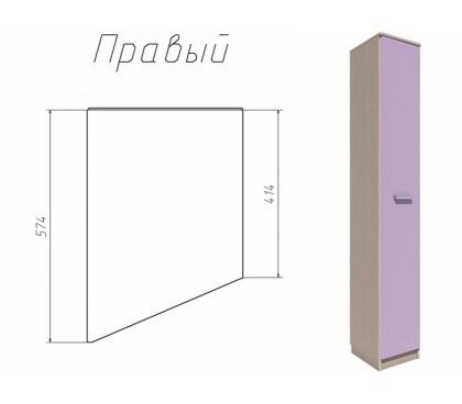 «Рико Модерн» НМ-013.05-01 Шкаф скошенный фасад ирис правый