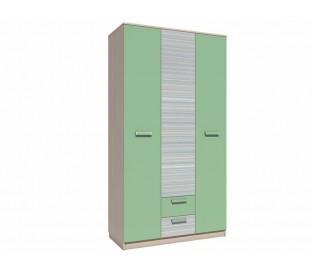 «Рико Модерн» НМ-013.08-01М Шкаф комбинированный фасад зелёный