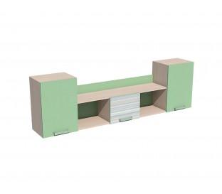 «Рико Модерн» НМ-011.39-01 Полка фасад зелёный