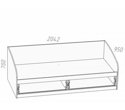 схема Прованс (Сильва) НМ-008.63 Кровать (сп.место 900х2000)