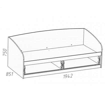 схема Прованс (Сильва) НМ-008.63-01 Кровать (сп.место 800х1900)
