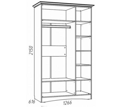 наполнение Прованс (Сильва) НМ-009.17 Шкаф комбинированный