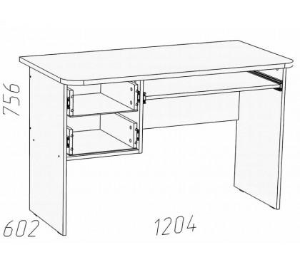 схема Прованс (Сильва) НМ-009.19-02 Стол для компьютера