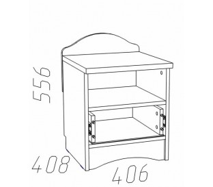 схема Прованс (Сильва) НМ-009.22 Тумба с ящиком