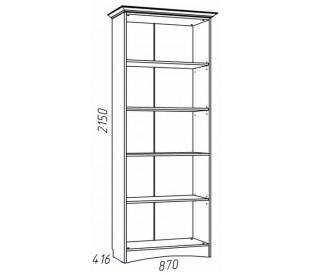 схема Прованс (Сильва) НМ-009.23 Шкаф комбинированный 2 двери