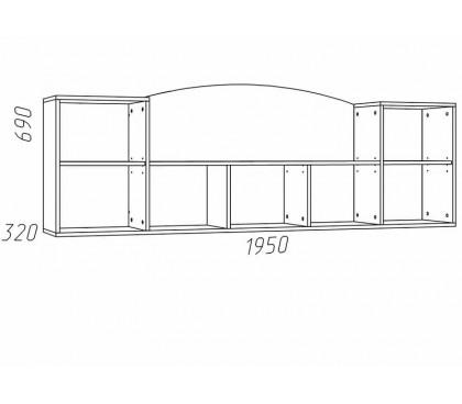 схема Прованс (Сильва) НМ-011.39 Полка навесная