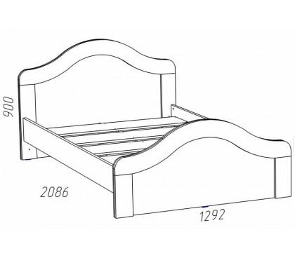 схема Прованс (Сильва) НМ-014.44 Кровать (сп.место 1200х2000)