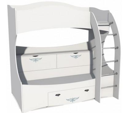 Прованс (Сильва) НМ-011.74 Кровать 2-х ярусная